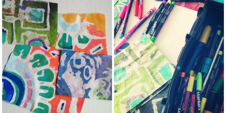 DIY Batik: Glue Resist Fabric
