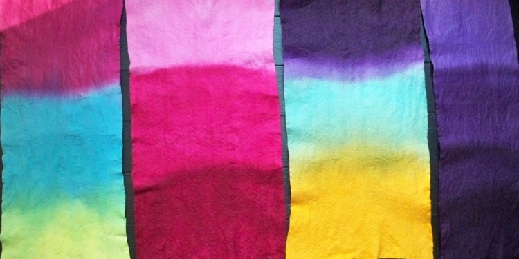 Dyeing Felt with Rit Dye #