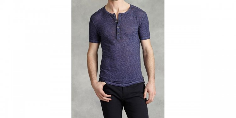 Henley With Cold Water Dye