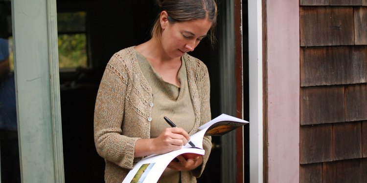 Rebecca burgess, dedicating a copy of her book harvesting color: how to find plants and make natural...