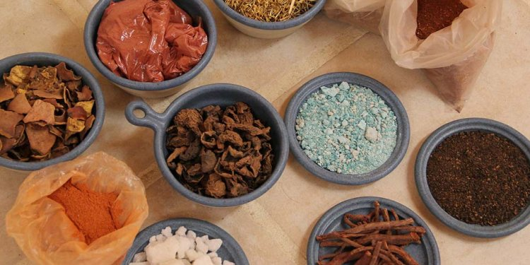 Natural dye dye materials