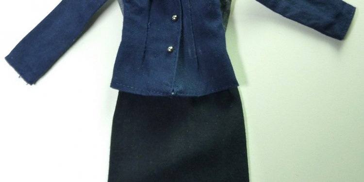 Sindy airline outfit, jacket and dress, I dyed the dress as the navy had run onto the white blouse