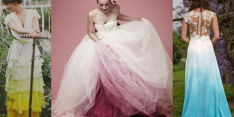 Stunning Dip-Dyed Wedding