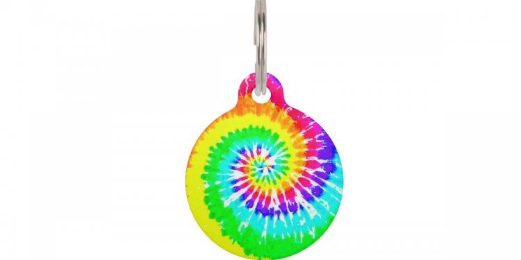 Tie Dye Rainbow Swirl Neon
