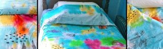 DIY Fabric Dye Coloring Book Duvet Cover Kids Craft