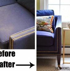How to color,  darken,  and usually freshen a classic,  faded couch - through the Chronicles of Home