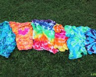 Different Tie dye patterns