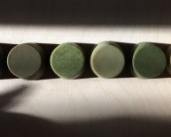 Natural green dyes