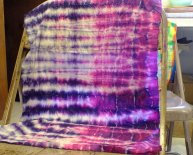 Tie dye Folds and results
