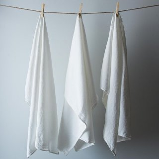 We used, ahem, well-loved Flour Sack Towels from our test kitchen area for dyeing.
